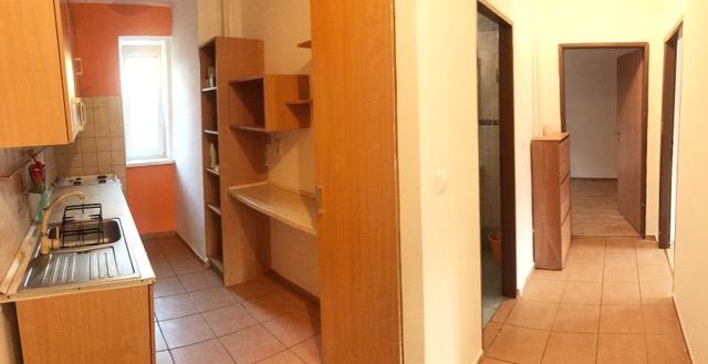 2-izbový byt prerobený na 3-izbový 17. Novembra
